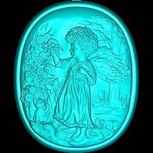 Ангел в ромашках (силиконовая форма для мыла, шоколада)
