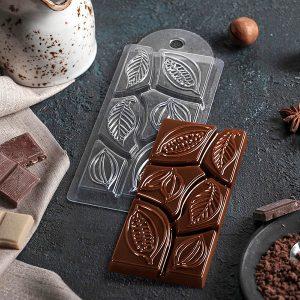 Форма для шоколада Какао-дольки (пластик)